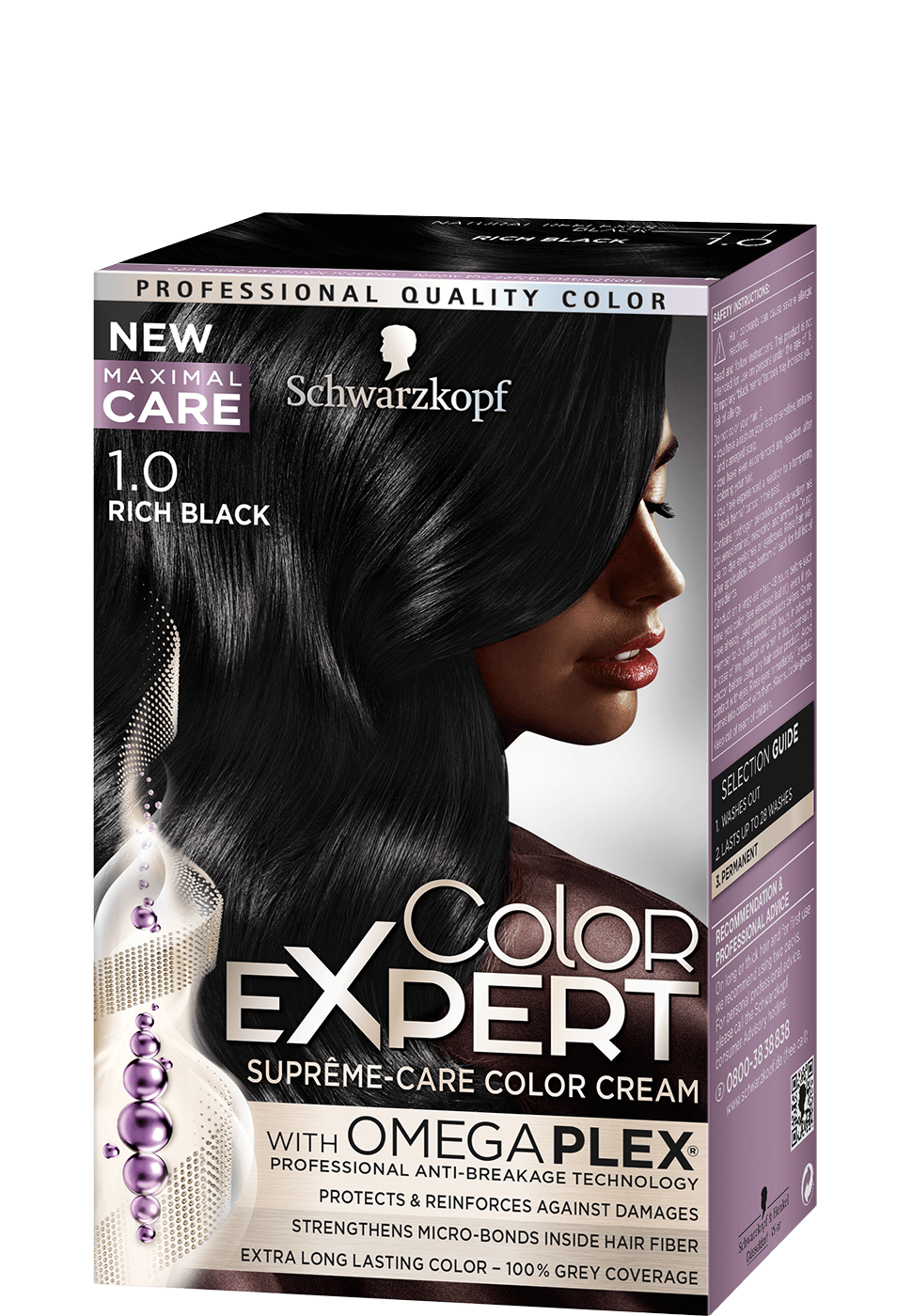 Color Expert Color Creme 1-0 Rich Black