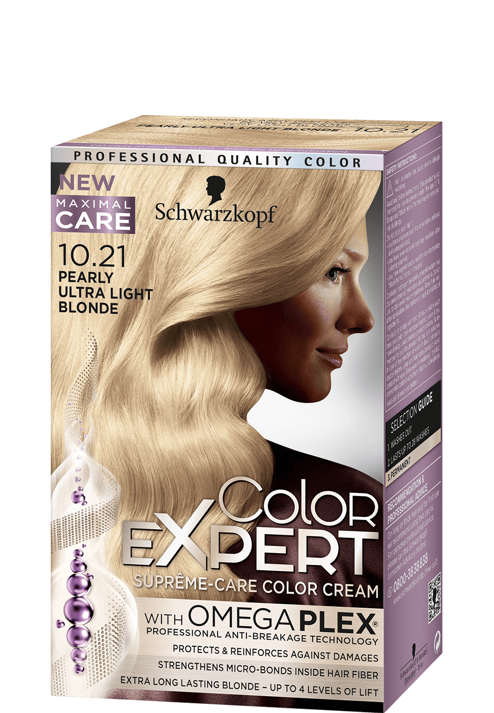 Color Expert Color Creme 10-21 Pearly Ultra Light Blonde
