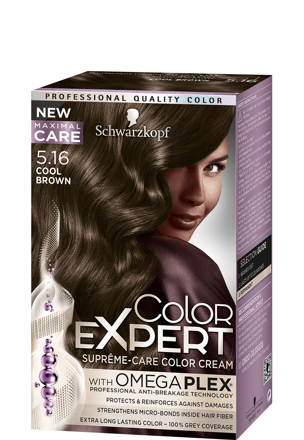 Color Expert Color Creme 5-16 Cool Brown
