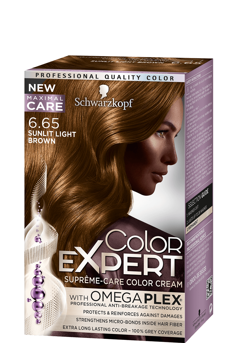 Color Expert Color Creme 6-65 Sunlit Light Brown