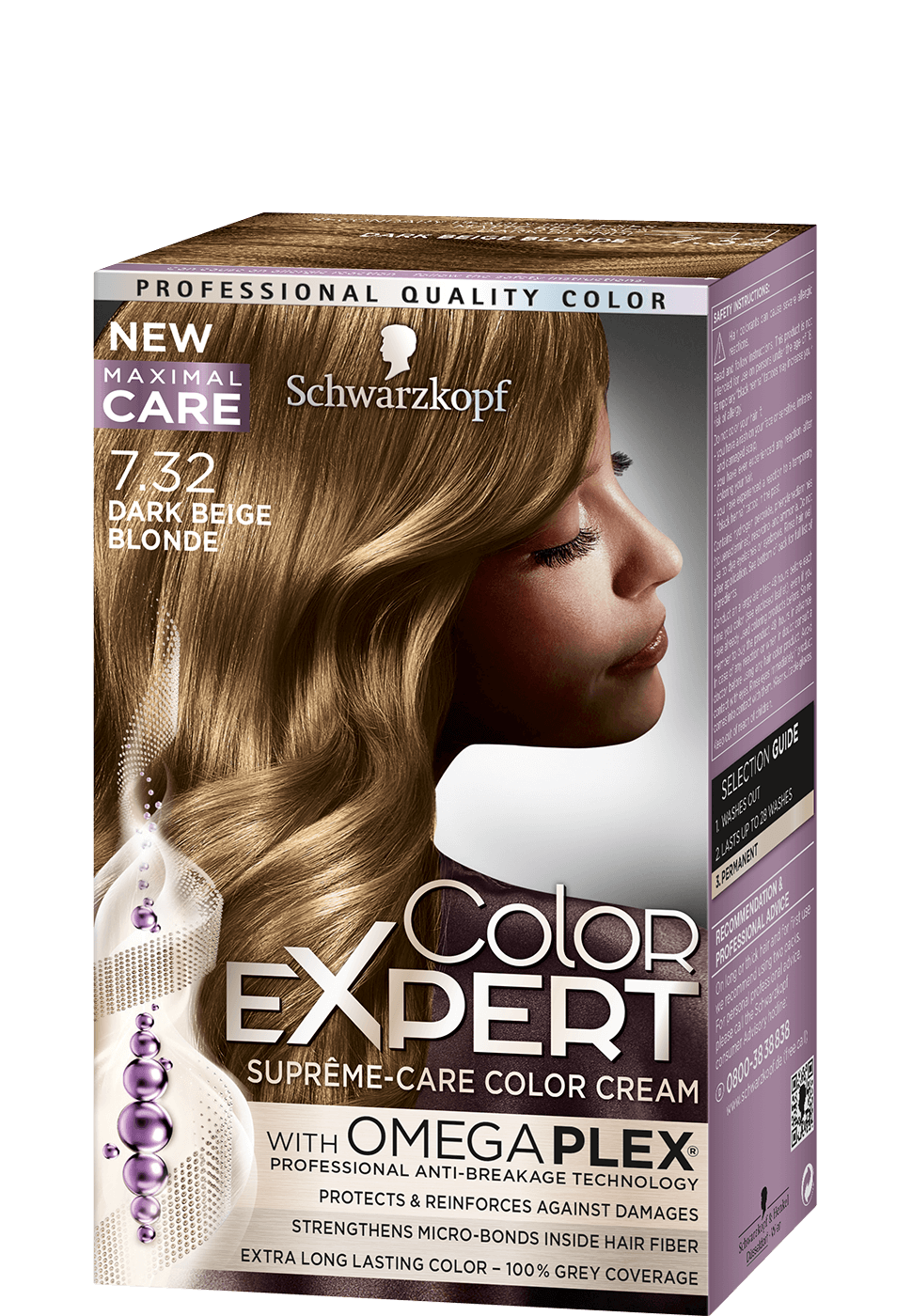 Color Expert Color Creme 7-32 Dark Beige Blonde