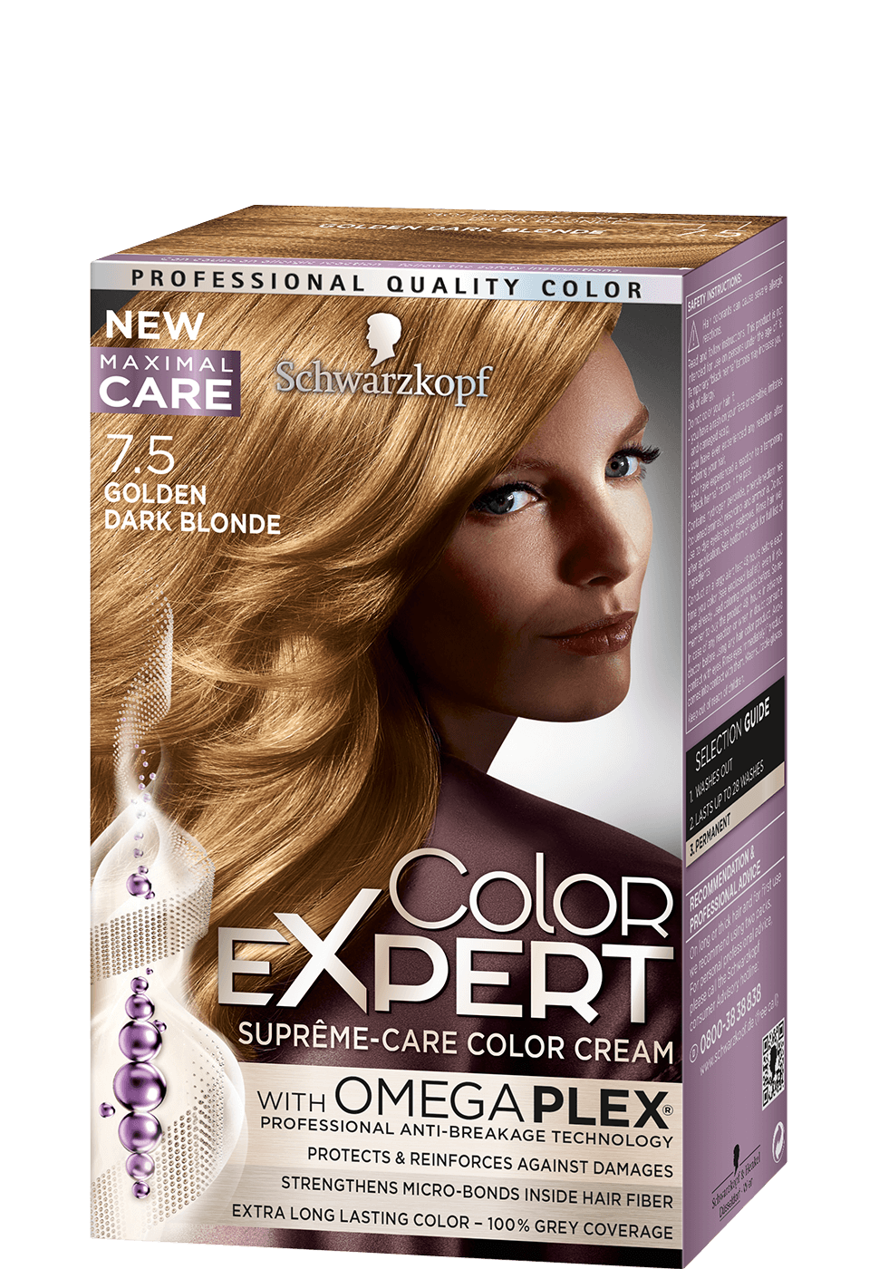 Color Expert Color Creme 7-5 Golden Dark Blonde