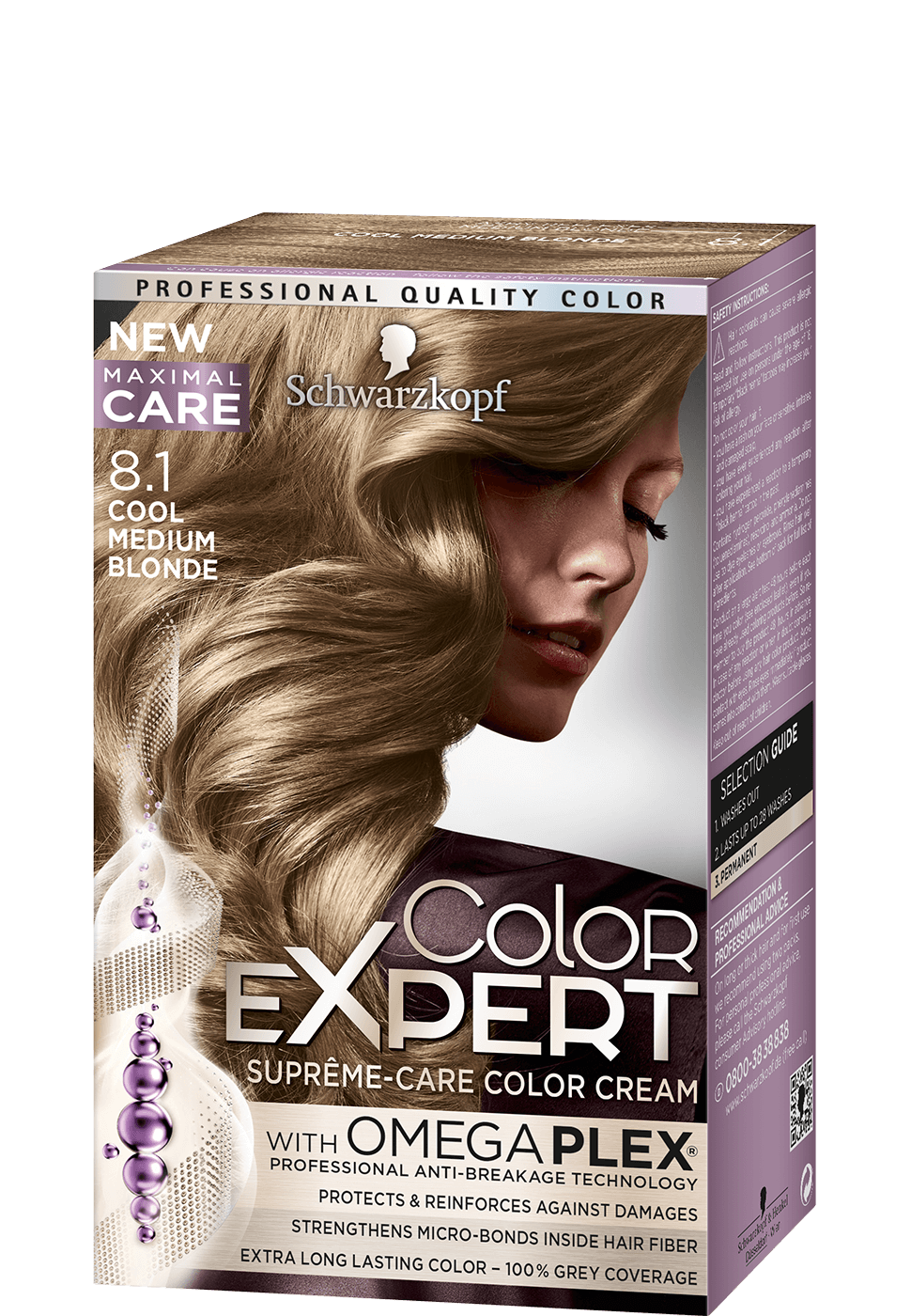 Color Expert Color Creme 8-1 Cool Medium Blonde