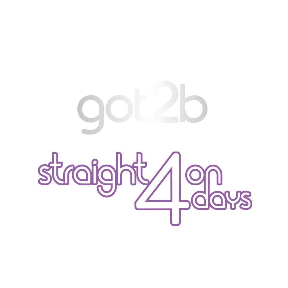 got2b-straighton4days-logo